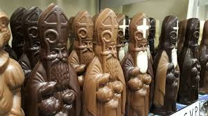 聖ニコラを象ったチョコレート
